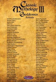 Classic Mythology III: Goddesses Artist List