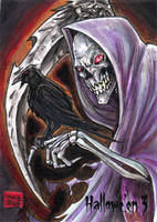 Hallowe'en 3 Sketch Card - Jason Saldajeno 1 by Pernastudios