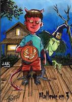 Hallowe'en 3 Sketch Card - Arturo Ramirez R. Jar 3 by Pernastudios