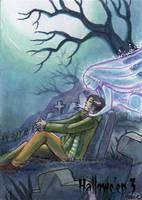 Hallowe'en 3 Sketch Card - Hanie Mohd 3 by Pernastudios