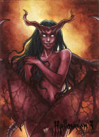 Hallowe'en 3 Sketch Card - Athina Poda 3 by Pernastudios