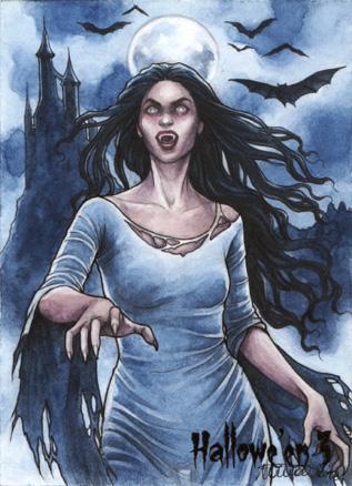 Hallowe'en 3 Sketch Card - Athina Poda 2