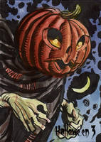 Hallowe'en 3 Sketch Card - Dan Brereton 3 by Pernastudios