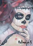Hallowe'en 3 Sketch Card - Marcia Dye 1