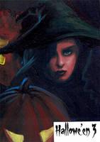 Hallowe'en 3 Sketch Card - Ingrid Hardy 1 by Pernastudios