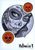 Hallowe'en 3 Sketch Card - Sean Pence 1 by Pernastudios