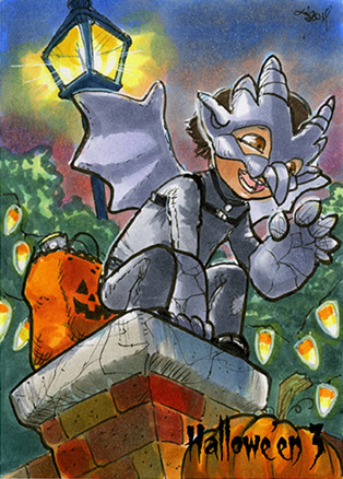 Hallowe'en 3 Sketch Card - Liz Chesterman 2 by Pernastudios