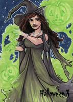 Hallowe'en 3 Sketch Card - Lynne Anderson 1 by Pernastudios