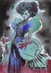 Hallowe'en 3 Sketch Card - Patrick Larcada 2