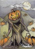 Hallowe'en 3 Sketch Card - Alexis Hill 1 by Pernastudios