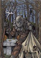 Hallowe'en 3 Sketch Card - Tony Perna 2 by Pernastudios