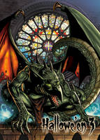 Gargoyle - Base Card Art by Jason Saldajeno by Pernastudios