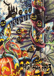 Jack-o-Lanterns Base Card by Achilleas Kokkinakis