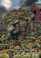Pumpkin Patch Monster Base Card Art by Tony Perna by Pernastudios