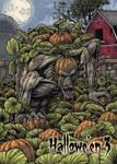Pumpkin Patch Monster Base Card Art by Tony Perna