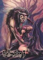 Werewolf - Base Card Art by Alcione Silva by Pernastudios