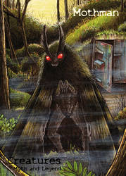 Mothman - P2 Promo Card Art by Jamie Snell by Pernastudios