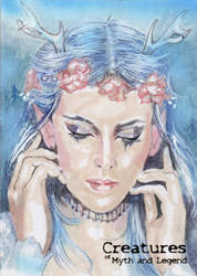 Deer Woman - Marcia Dye by Pernastudios