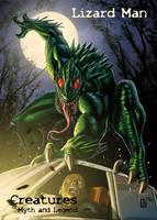 Lizard Man - P3 Promo Card Art by Peejay Catacutan by Pernastudios