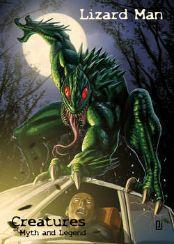 Lizard Man - P3 Promo Card Art by Peejay Catacutan