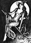 Hallow-Ink Sketch Card - Huy Truong 1