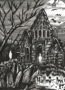 Hallow-Ink Sketch Card - Jose Carlos Sanchez 3