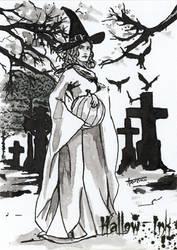 Hallow-Ink Sketch Card - Arwenn Necker 2