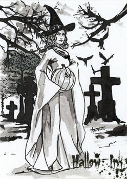 Hallow-Ink Sketch Card - Arwenn Necker 2