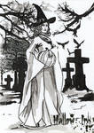 Hallow-Ink Sketch Card - Arwenn Necker 2 by Pernastudios