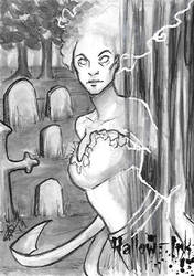 Hallow-Ink Sketch Card - Sha-Nee Williams 3