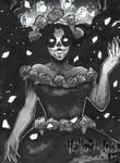 Hallow-Ink Sketch Card - Danielle Ellison 2