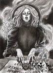 Hallow-Ink Sketch Card - Athina P Konstantinidou 2 by Pernastudios