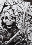 Hallow-Ink Sketch Card - Kenneth Hutcheson 1