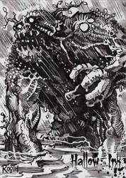Hallow-Ink Sketch Card - Mike Rooth 3