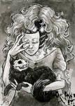 Hallow-Ink Sketch Card - Amy Clark 1