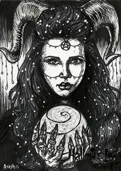 Hallow-Ink Sketch Card - Ashleigh Popplewell 1 by Pernastudios