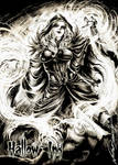 Coven Witch - Metal Card Art by Newton Barbosa by Pernastudios