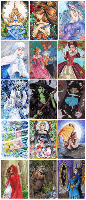 Classic Fairy Tales 2 - METAL Sketch Cards 2