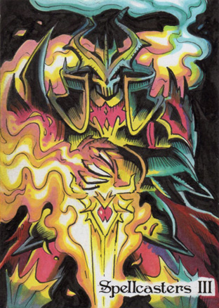 Spellcasters 3 Sketch Card - John Monserrat 2