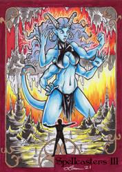 Spellcasters 3 Sketch Card - Loren Bobbitt 1
