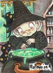 Hallowe'en 4 Sketch Card - Lindsey Greyling 1
