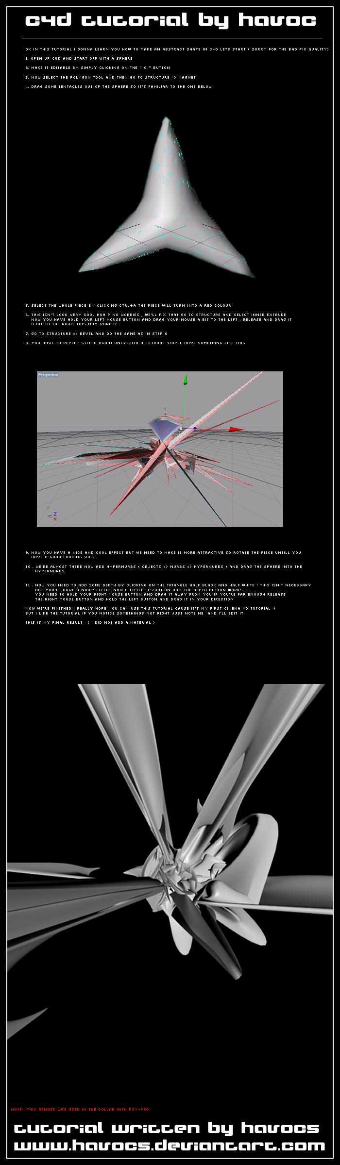 C4D abstract tutorial by HaVoC5