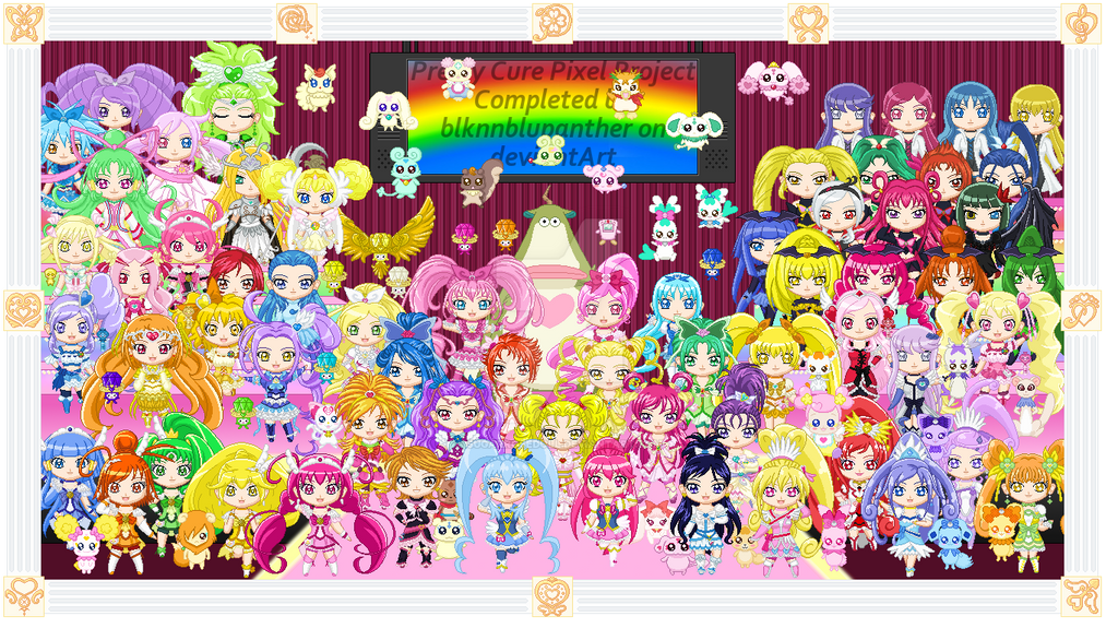 Pretty Cure All Stars Pixel Project By Sugarrosedoll On