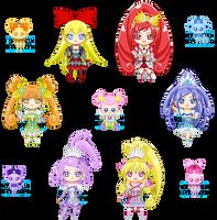 ChibiP: DokiDoki Pretty Cure by SugarRoseDoll