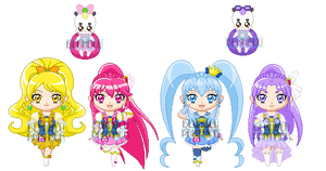ChibiP: Happiness Charge Pretty Cure by SugarRoseDoll