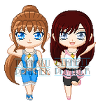 ChibiP: Kailey and Lily by SugarRoseDoll