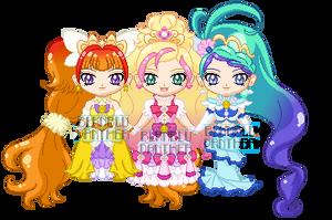 ChibiP: Go! Princess Precure Elegant Mode by SugarRoseDoll