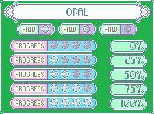 GemArt Progress Bars: Opal by SugarRoseDoll