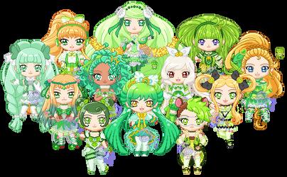 ChibiP: Precure Fantasy Green by SugarRoseDoll