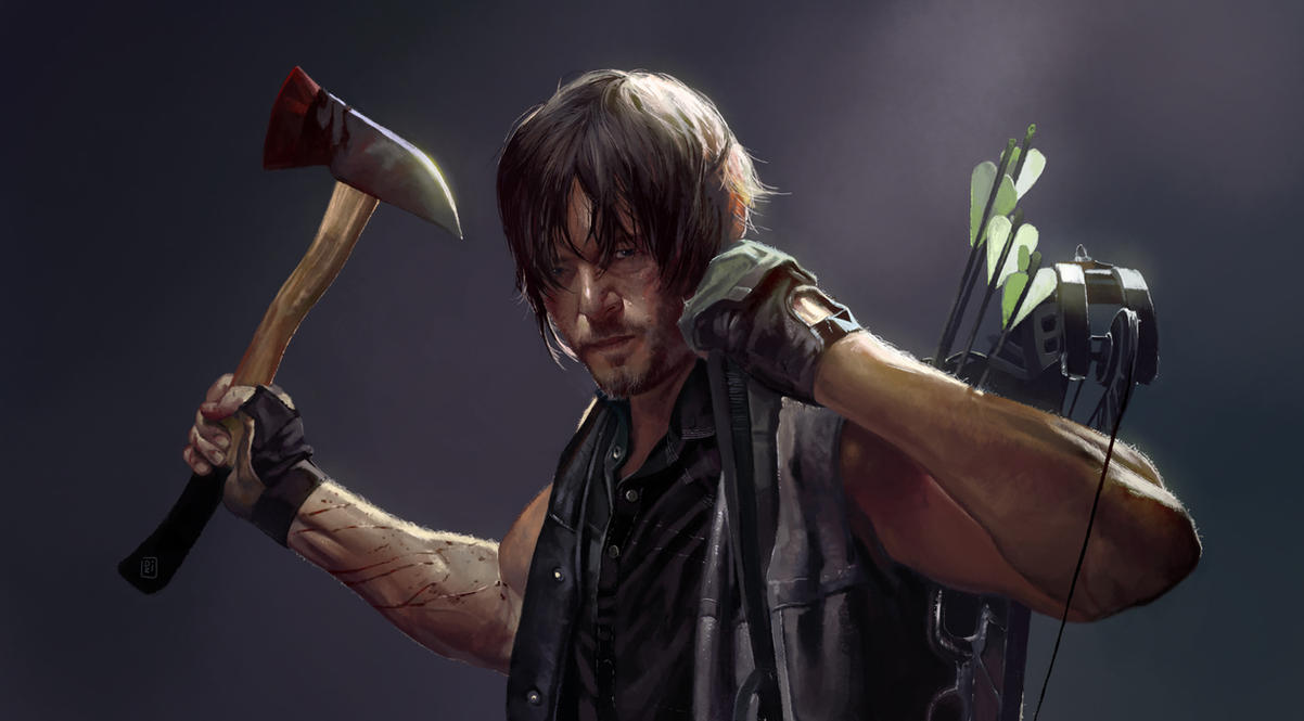 Daryl Dixon from The Walking Dead by DziKawa